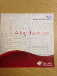Giving blood saves lives. Do something amazing and give blood today