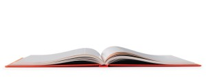Open book. Clipping path