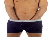 Young Man in Boxer Shorts. Model Released