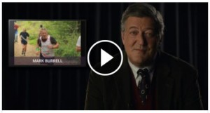 Click the arrow above to watch how Stephen Fry is supporting runners raising money by running the London Marathon