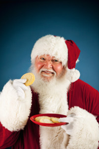 Santa: Eating a Plate of Cookies